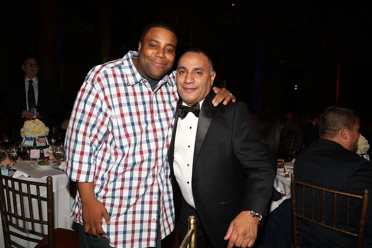 "Kenan Thompson with the Cristian Rivera Foundation founder, John ""Gungie"" Rivera."