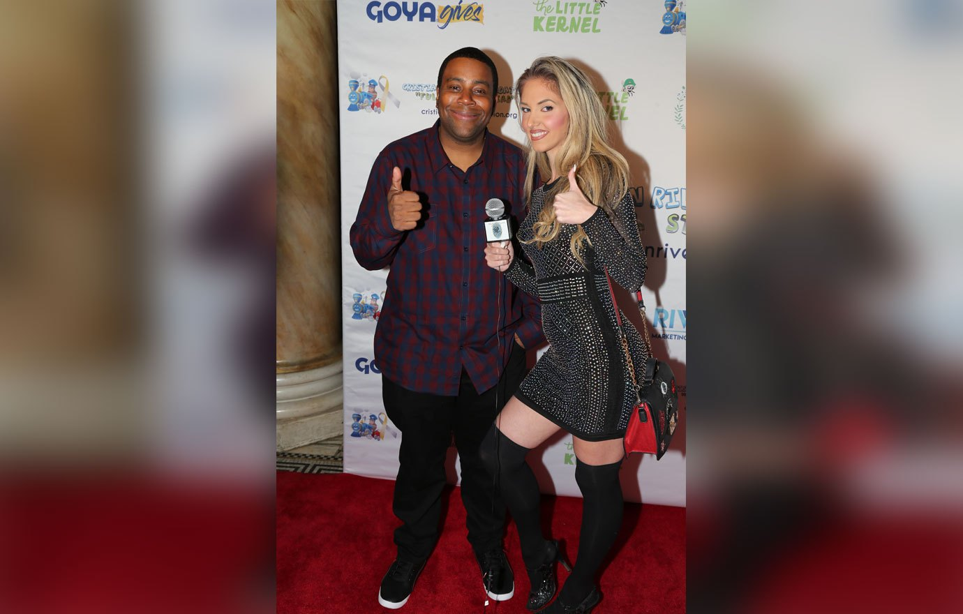 Cristian Rivera Foundation Committee Member and Actor Keenan Thompson and Fashion Haunts Magazine host Samantha Leonardis at the 10th Anniversary Cristian Rivera Foundation Celebrity Gala at Capitale in New York City.