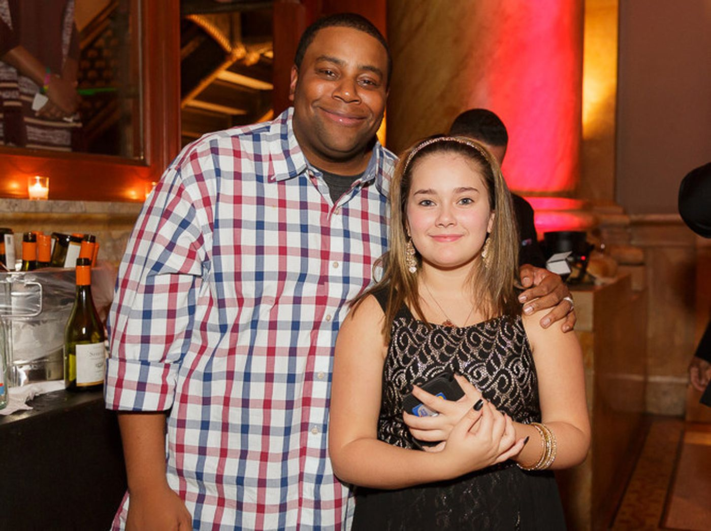 Kenan Thompson (l.) and Leisha Ayalais. (Courtesy Cristian Rivera Fund)