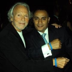 Mario Lichtenstein Founder of Voices Against Brain Cancer Foundation<br />and John Gungie Rivera