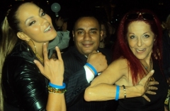 "Anane with the Founder Of CRF John ""Gungie"" Rivera and Designer Patricia Field"