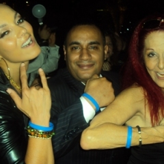 """Anane with the Founder Of CRF John """"Gungie"""" Rivera and Designer Patricia Field"""