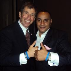 """Bob Budlow of Children's Brain Tumor Foundation and John """"Gungie"""" Rivera"""