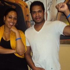 Johnny Nunez with assistant Odalys Moreno of Nu Buzz Photo.com