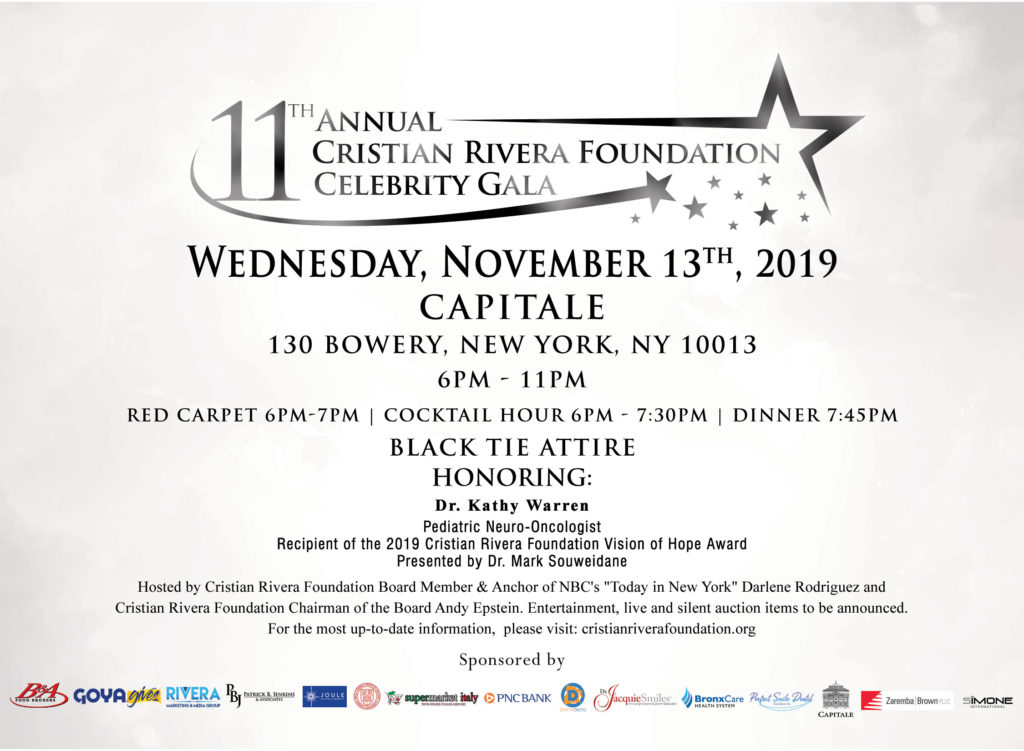 11th Annual Cristian RIvera Foundation Celebrity Gala