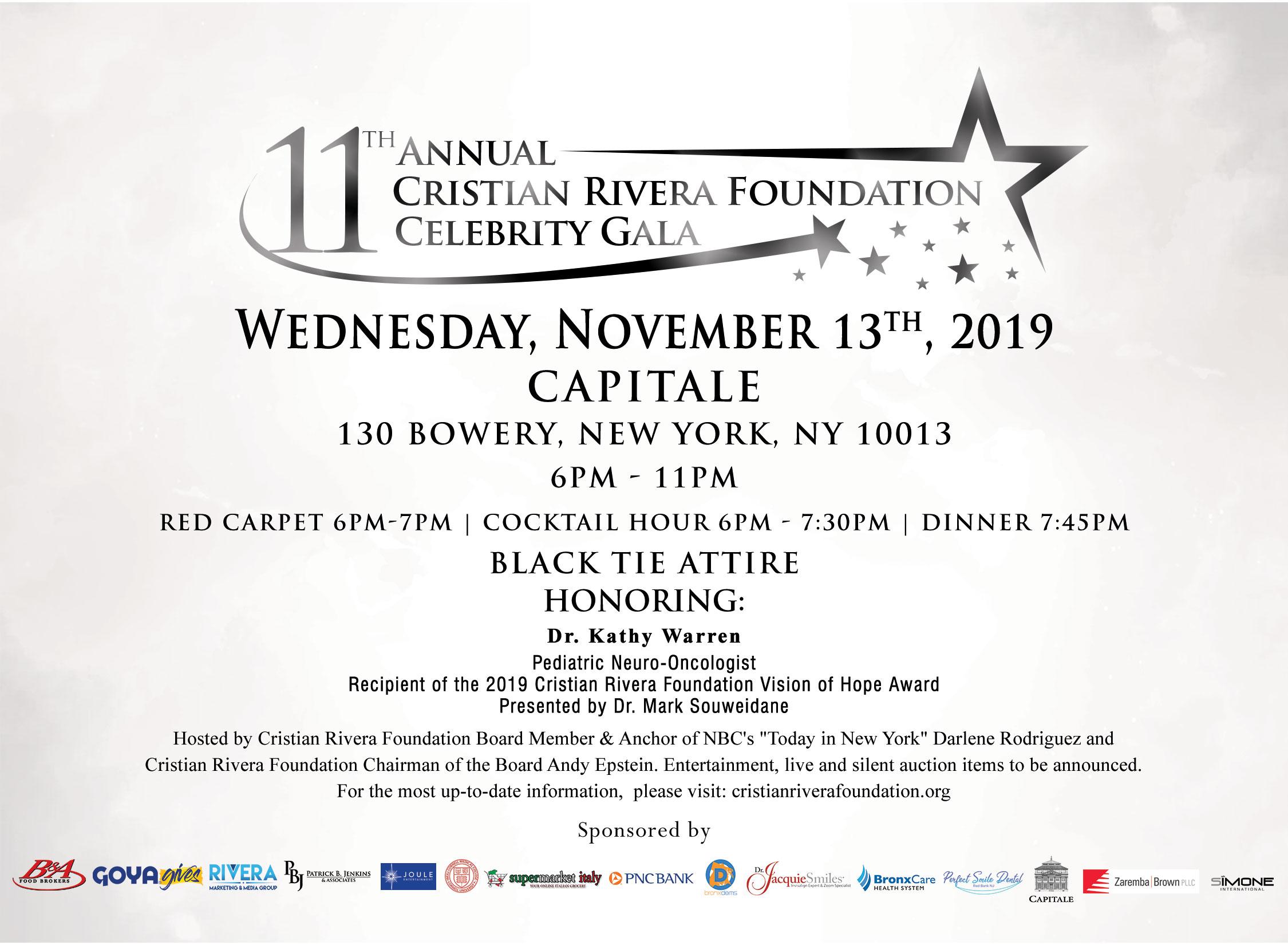 11th Annual Cristian RIvera Foundation Celebrity Gala