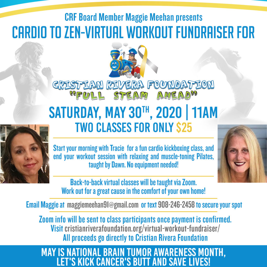 Cardio to Zen-Virtual Workout Fundraiser for CRF